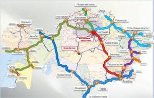 Карта Нурлы-жол